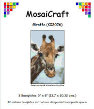 MosaiCraft Pixel Craft Mosaic Art Kit 'Giraffe' (Inc. Dove Tail Clips)