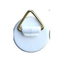 4 self-adhesive hangers 32 mm with brass eyelet, glue, hooks, plates 301132