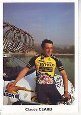 CYCLISME carte cycliste CLAUDE CEARD club VELO-CLUB LYON VAULX-EN-VELIN