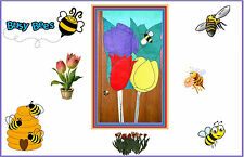 Very Nice Large Decorative House Flag. Bee and Flowers. Moveable Wings.