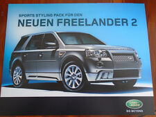 Land Rover Freelander 2 Sports Styling Pack brochure 2007 German text