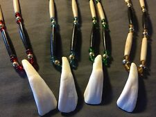 Buffalo Tooth necklace NATIVE AMERICAN MADE cherokee pow wow regalia  ONE ONLY