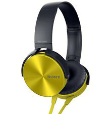 SONY MDR-XB450 EXTRA BASS HEADPHONES@30MM@METALLIC FINISH - YELLOW