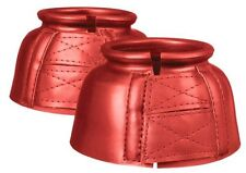 Tough-1 medium red pro guard bell boots horse tack equine 66-9041
