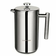LOSCATO 34OZ Double Wall Stainless Steel French Press Coffee Maker 1L