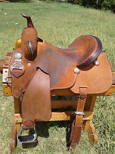 "15"" Spur Saddlery Barrel Racing Saddle - Seat Rigged - Made in Texas"