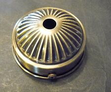 "Holder Cup 2 1/4"" Fitter Shade Lamp Part Steel Antique Brass Plate 3/8"" Hole"