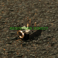 """25x 3.5mm PCB Mount Stereo Socket Female Switched Audio Chassis Jack 1/8"""" R36"""