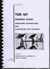 "Ransomes ""TSR 107"" Reversible Plough Instruction and Illustrated Parts Book"
