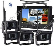 "7""Wireless Agriculture Backup Camera System+4CCD Cameras"