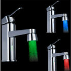 Temperature Sensor 3 Color Kitchen Water Tap Faucet RGB Glow Shower LED Light 1X