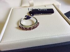Bliss by Damiani 'Daphne' 18K White Gold Garnet Ring Size 6.25 20028750