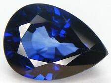 15.69CT. PEAR CUT 18x13 MM. DIFFUSION TREATED BLUE SYNTHETIC SAPPHIRE