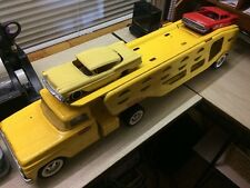 VTG 1960 61 62 TONKA  Car Hauler Pressed Steel Original RARE 58 60 Chevy Impalas