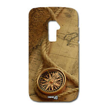 CUSTODIA COVER CASE BUSSOLA VINTAGE MARRONE ESPLORAZIONE PER LG OPTIMUS G2 D802