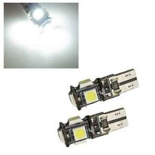 1 x Pair W5W 501 T10 Canbus 5 SMD LED Sidelight Bulbs 6000k White - Renault