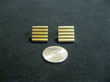 Vintage Gold Plated Square Grooved Cufflinks Swank         CE5