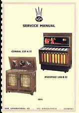 MANUALE COMPLETO JUKEBOX SERVICE MANUAL NSM PRESTIGE 160B II AND CONSUL 120A II