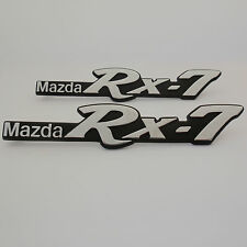 MAZDA RX7 ,2x metal guard badges 3 Pins,New, for 1983-1985 Rotary Rotor Coupe
