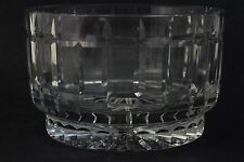 "Vintage Signed Dresden Cut Crystal 8"" Large Centerpiece Glass Bowl"