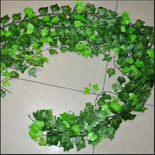 Home Foliage Decor Green Plant Ivy Leaf Artificial Flower Plastic Garland Vine G