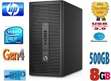 HP PRODESK 400 G1-4TH GEN i5 8GB 500 HD-3.20GHZ.4570.WIN 10 PRO,64 BIT-USB3,DVD+