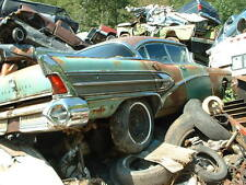 1958 Buick sitting on top of a pile of cars in junk yard 8 x 10 Photograph