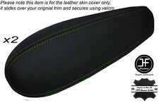 GREEN STICH 2X SEAT ARMREST SKIN COVERS FITS CHEVY SILVERADO TAHOE SIERRA 95-99
