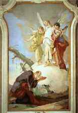 Metal Sign Giovanni Battista Tiepolo Palazzo Patriarcale The Three Angels Appear