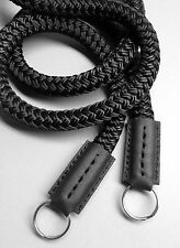 "Custom made silk camera round cord strap 7/16"" x 35"" for Leica Fuji Nikon Pentax"