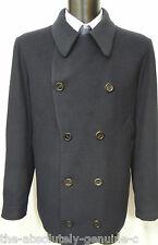 Aquascutum Azul Marino ligeramente acolchada acolchado abrigo chaqueta de lana mezcla BNWT PEA UK 44