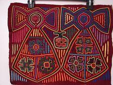 Vintage Mola Kuna textile hand stitched 4 layers beautiful