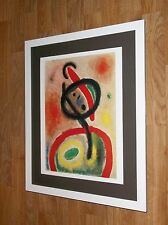 Mujer III - Joan Miro, 20x16'' frame, vintage abstract poster, femme woman print
