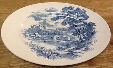 """Wedgwood Country Side Countryside Blue White England 12"""" Oval Serving Platter"""