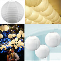White Paper Light Chinese Paper Lampshade Lantern Wedding Xmas Party Decorations