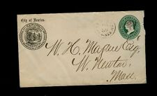 U82 Envelope w/ WEST NEWTON MASS cancel & City of Newton Seal as Cornercard