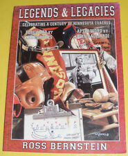 Legends & Legacies 2003 A Century of Minnesota Coaches First Edition Great Pics!
