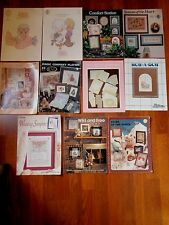 Lot of 11 Cross Stitch Pattern Books & Leaflets - Precious Moments,Placemats +