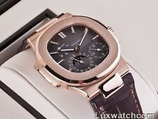 PATEK PHILIPPE NAUTILUS MOONPHASE POWER RESERVE 18K ROSE GOLD 5712R-001 WATCH
