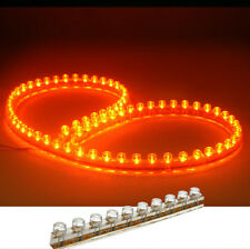 2PCS 48CM ORANGE LED LIGHT STRIP SILICON 12V WATERPROOF