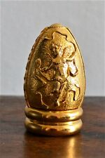 Franklin Mint Egg & Gold Tone Stand Treasury of Eggs French Rococo