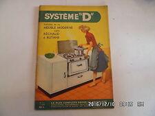 SYSTEME D N°131 11/1956 HABILLAGE MEUBLE LIT CANAPE TABLE BAR ORIGINALE   D44