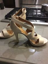NINE WEST Women s Leather Platform High Heel Shoes Sz. 9M