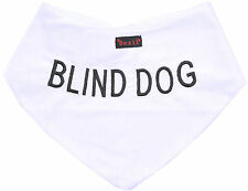 Color Coded BLIND DOG Warning Bandana Best Quality Personalised Message Scarf