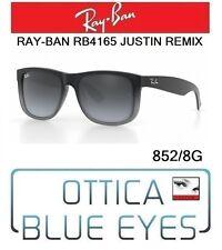 Occhiali da sole RAYBAN JUSTIN REMIX Ray Ban RB4165 852/8G sunglasses GREY RUB