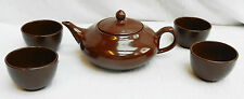 Chinese Yixing Clay Tea Set - Teapot and Four Cups