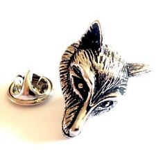 Fox Head, Animal Foxes Novelty Pin Badge, Tie Pin / Lapel Pin Badge (X2AJTP216)