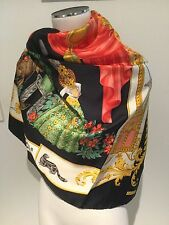 RATTI I Authentic LA BELLA E LA BESTIA Silk Scarf 86cmx86cm Hand-rolled edges