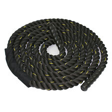 """1.5"""" Poly Dacron 30 ft Battle Rope Workout Strength Exercise Training"""