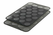 Mastrad 25 Ridge Silicone Macaron Baking Sheet / Mold - Set of 2